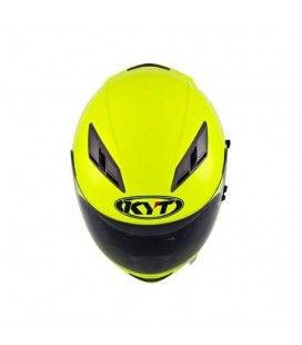 CASCO INTEGRAL KYT FALCON PLAIN COLOR AMARILLO FLUOR