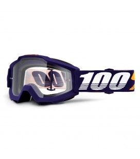 GAFAS MOTOCROSS 100% ACCURI GRIP CLEAR