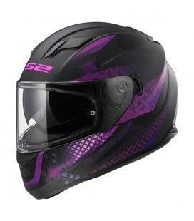 CASCO LS2 FF320 LUX MATT BLACK -PINK