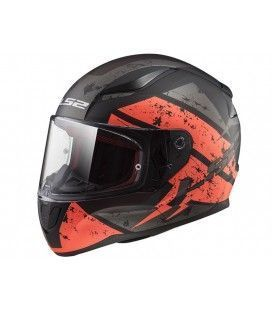 CASCO LS2 FF353 DEADBOLT MATT BLACK ORANGE