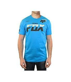 CAMISETA FOX, TEAM FOX AZUL.