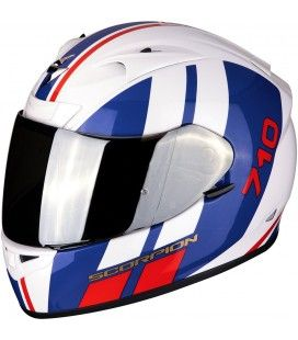 CASCO SCORPION EXO-710 AIR GT BLANCO, AZUL, ROJO