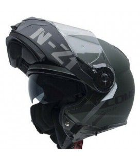 Casco abatible Nzi Combi 2 duo graphics flydeck green matt bluetooth
