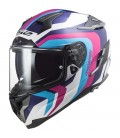 CASCO LS2 FF327 CHALLENGER GALACTIC WHITE / BLUE / PINK