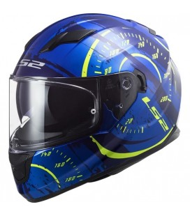 CASCO LS2 FF320 STREAM EVO TACHO BLUE / H-V YELLOW