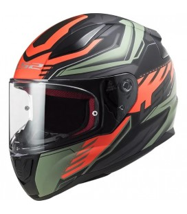CASCO LS2 FF353 RAPID GALE MATT BLACK / RED / GREEN