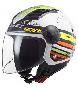 CASCO LS2 OF562 AIRFLOW RONNIE GLOSS WHITE GREEN