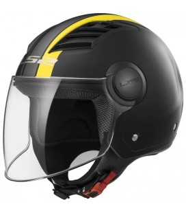 CASCO LS2 OF562 AIRFLOW METROPOLIS MATT BLACK / H-V YELLOW