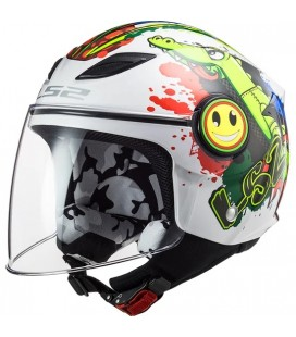 CASCO LS2 OF602 FUNNY MINI CROCO WHITE