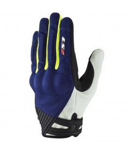 GUANTES LS2 DART 2 MAN BLUE H-V YELLOW
